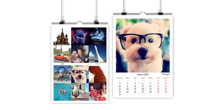 Календарь на 12 месяцев со своими фотографиями из инсты